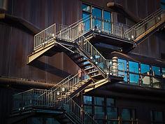 yangin merdiveni - çelik merdiven