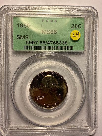 1965-P SMS PCGS MS66