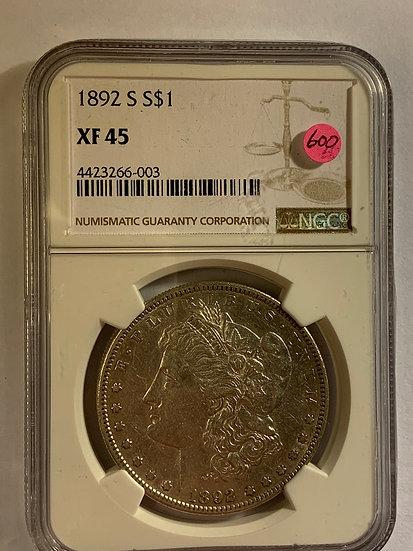 1892-S NGC XF45
