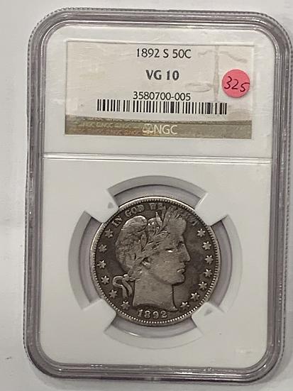 1892-S NGC VG10
