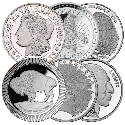1oz Silver Round - Generic Brand/Design