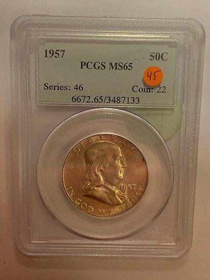 1957-P PCGS MS65