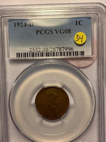 1924-D PCGS VG08