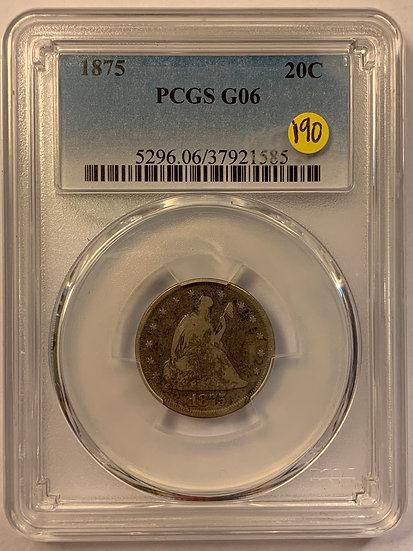 1875-P PCGS G6