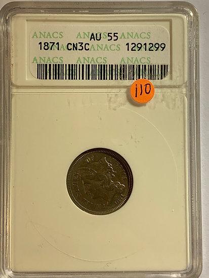 1871-P ANACS AU55