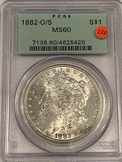 1882 O/S PCGS MS60