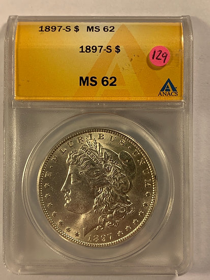 1897-S ANACS MS62