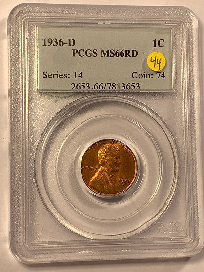 1936-D PCGS MS66RD
