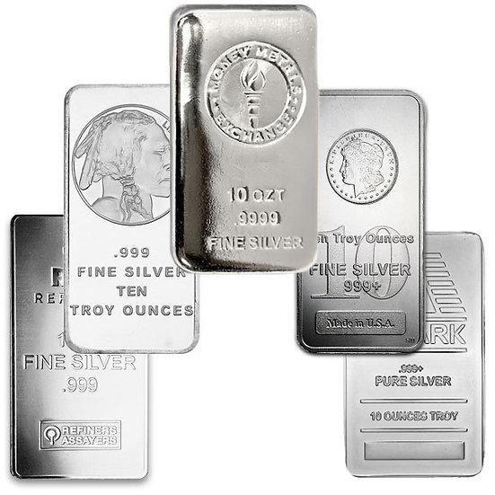 10oz Silver Bar - Generic/Random Brand