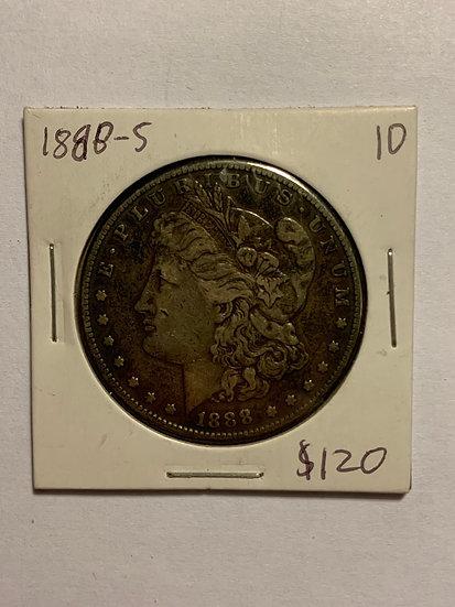 1888-S Raw