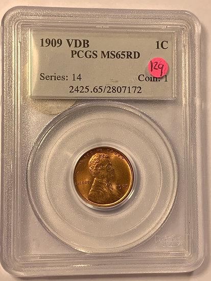 1909-P VDB PCGS MS65RD