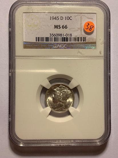 1945-D NGC MS66
