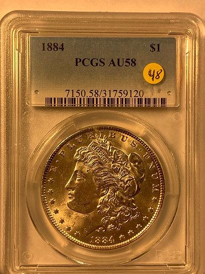 1884-P PCGS AU58