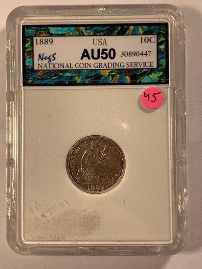 1889-P NCGS AU50