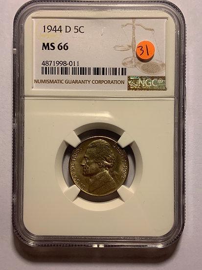 1944-D NGC MS66