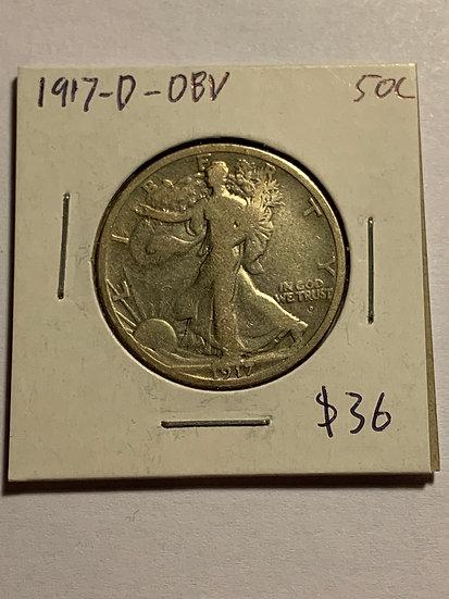 1917-D Obv. Raw