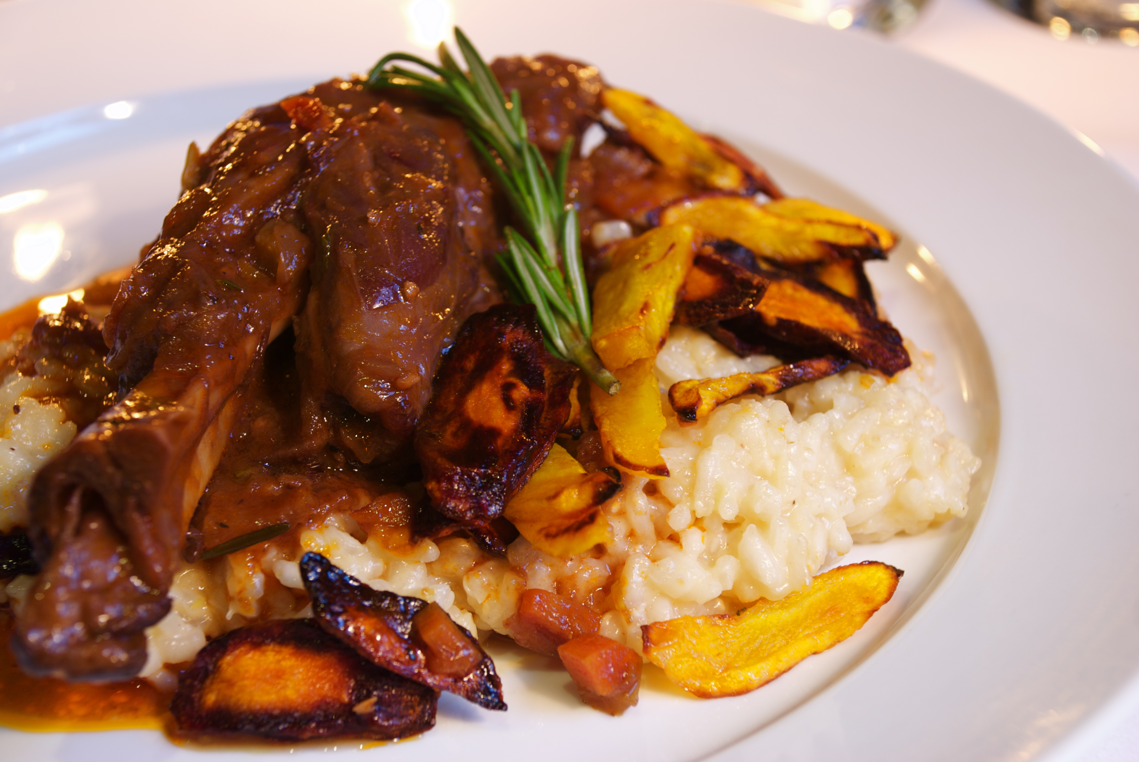 lamb shank with risotto