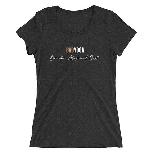 "Ladies' ""BadYoga"" short sleeve t-shirt"