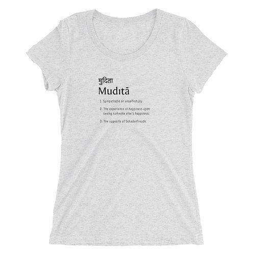 "Ladies' ""Mudita"" short sleeve t-shirt"