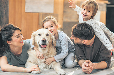 Young children who grow up with dogs are better behaved