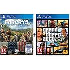 Pack de 2 Jeux PS4 : Far Cry 5 + GTA V