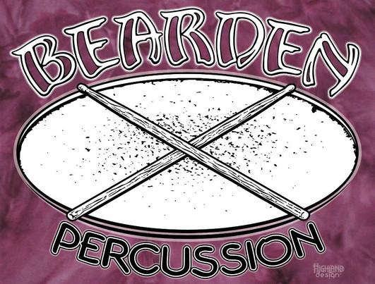Bearden Percussion marching band shirt design