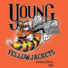 Young High School Yellow Jackets remember shirt design