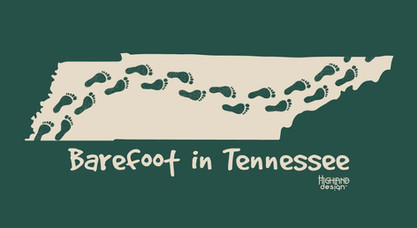 Barefoot in Tennessee shirt design