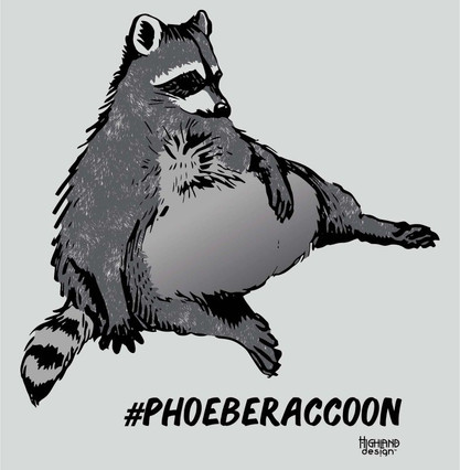 Phoebe Raccoon shirt design