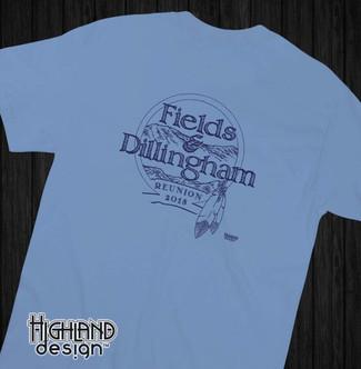 Fields and Dillingham Family Reunion 2018 shirt design