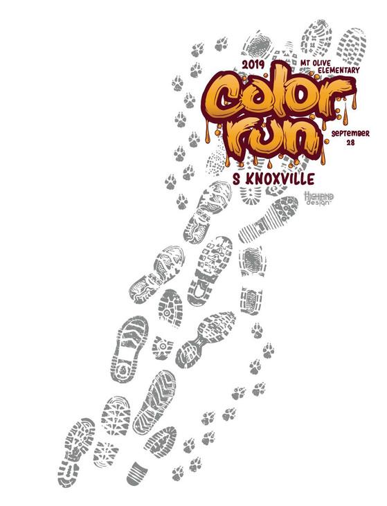 Mount Olive Color Run 2019 shirt design