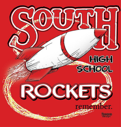 South High School Rockets remember shirt design