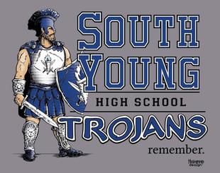South Young High School Trojans remember shirt design