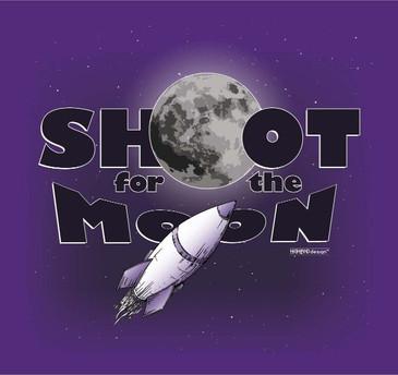 Shoot for the Moon shirt design