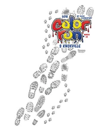 Mount Olive Color Run 2018 shirt design