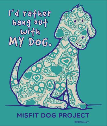 Misfit Dog Project Zen Paisley shirt design