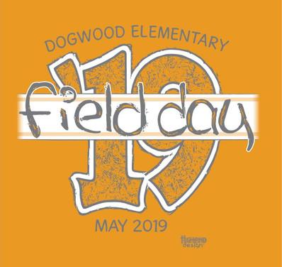 Field Day 2019 Dogwood elementary shirt design