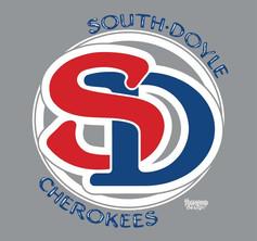South Doyle Cherokees SD shirt design