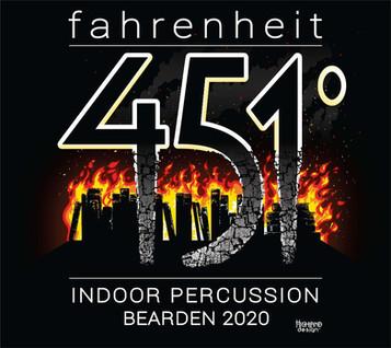 Fahrenheit 451 Indoor Percussion Bearden shirt design