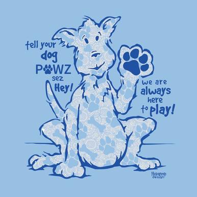 Pawz dog shirt design