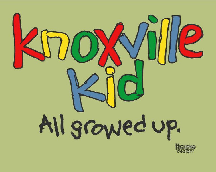 Knoxville Kid All Growed Up shirt design