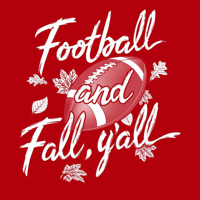 Football and Fall Y'all shirt design