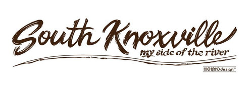 South Knoxville My Side of the River brown shirt design
