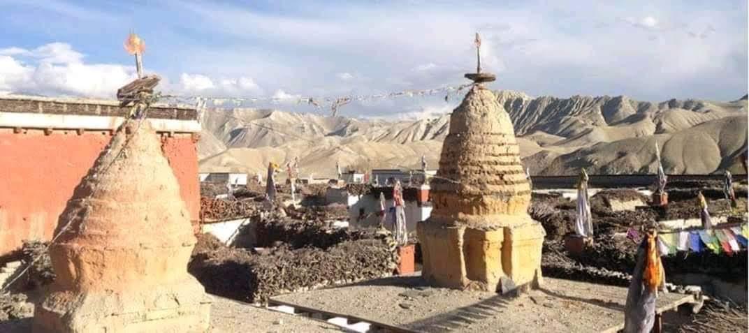 Chortens of the ancient Ghami monastery