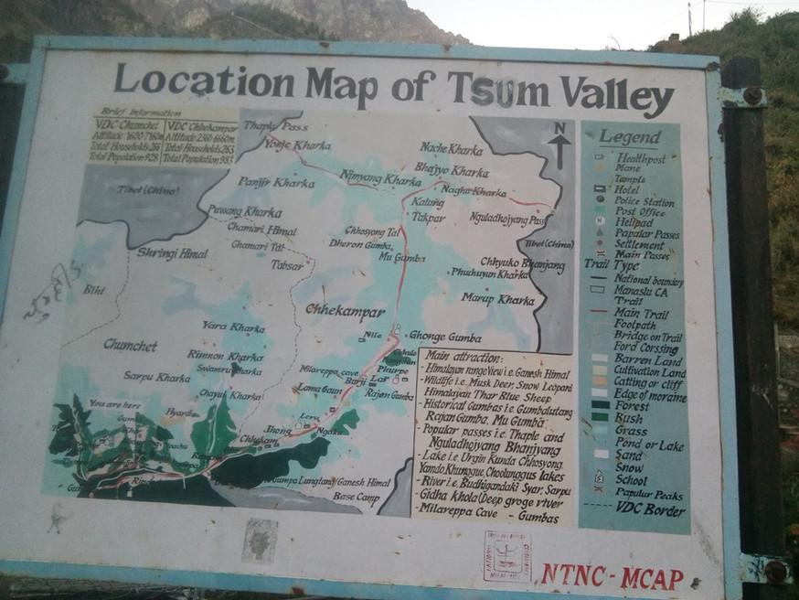 Tsum Valley map