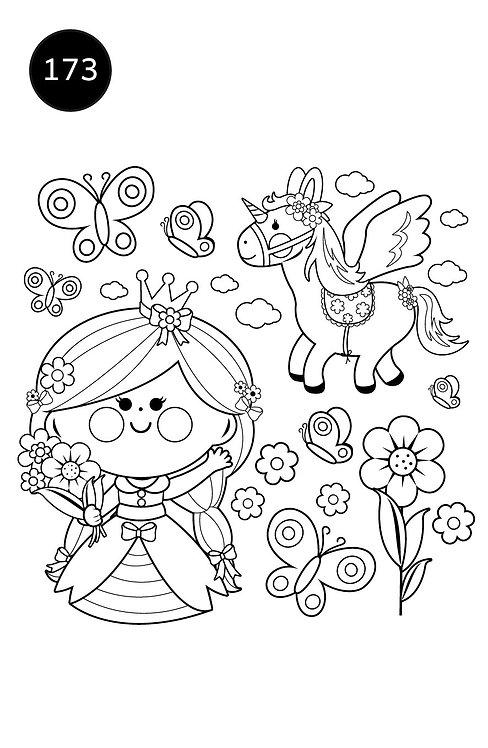 גיליון צביעה ענק-אביב הנסיכה