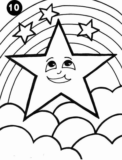 גיליון צביעה ענק - כוכב מחייך