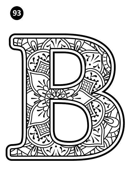 גיליון צביעה ענק - B