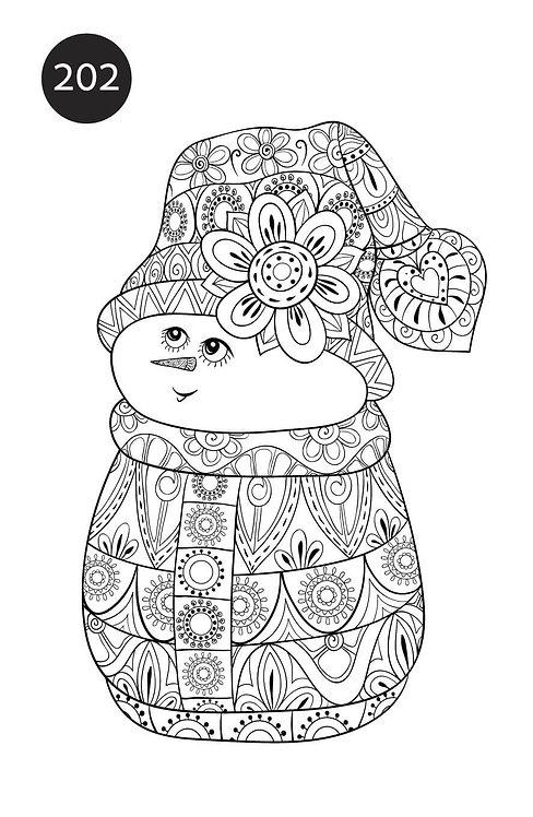 גיליון צביעה ענק לכריסמס - איש שלג