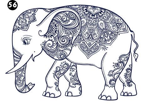 גיליון צביעה ענק - פילפילה